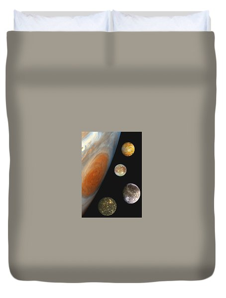 Galilean Moons Of Jupiter Duvet Cover
