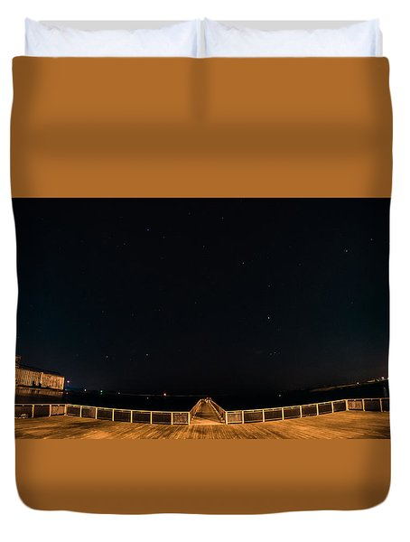 Gallagher Pier Nightscape Duvet Cover