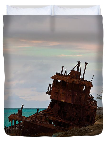 Gallant Lady Aground Duvet Cover