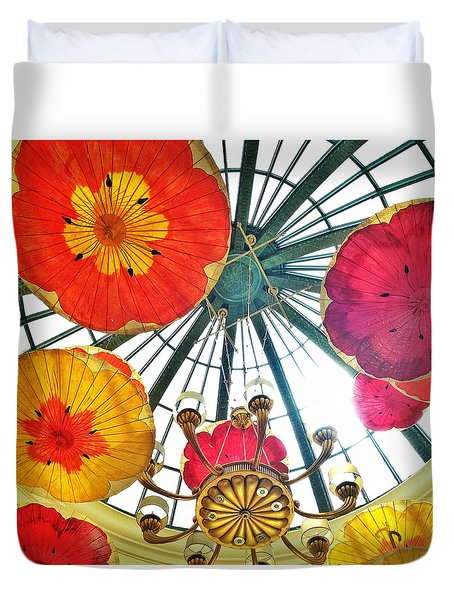 Galleria Atrium At The Bellagio Duvet Cover