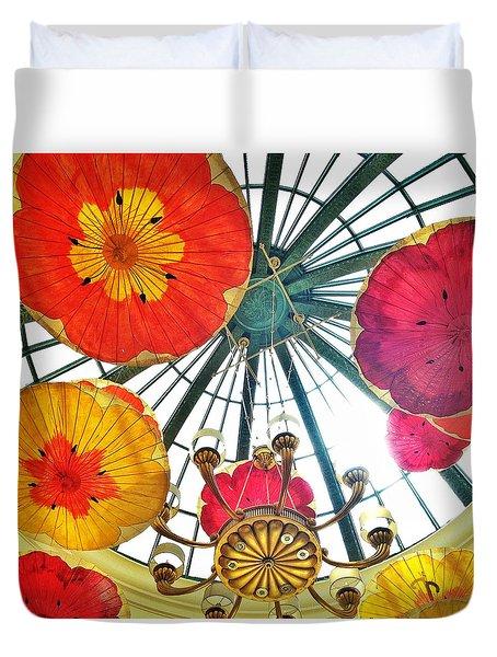 Galleria Atrium At The Bellagio Duvet Cover by Anna Porter