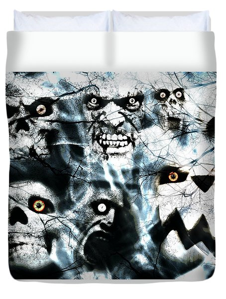 Duvet Cover featuring the photograph Gallery Of Ghouls Vi by Aurelio Zucco