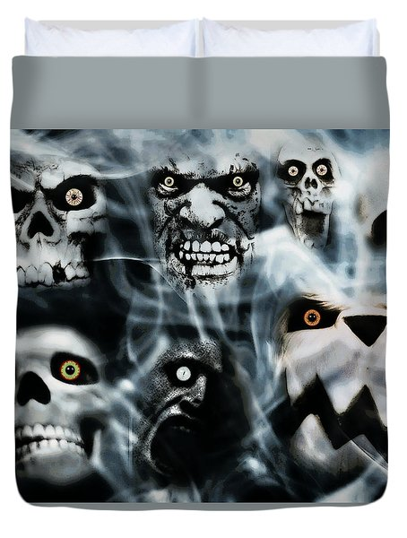 Duvet Cover featuring the photograph Gallery Of Ghouls Vii by Aurelio Zucco