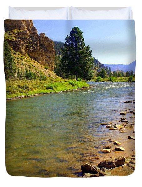 Gallitan River 1 Duvet Cover by Marty Koch
