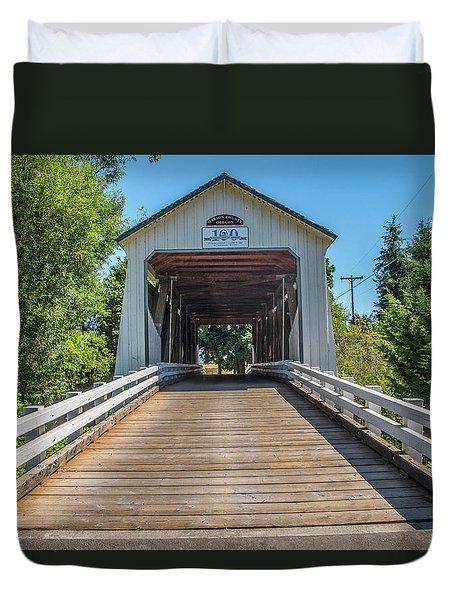 Gallon House Covered Bridge Duvet Cover