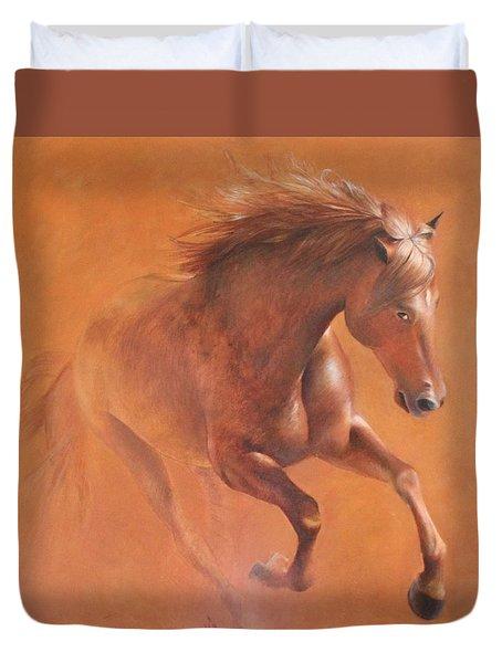 Gallop In The Desert Duvet Cover