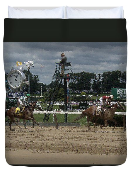 Duvet Cover featuring the digital art Galloping Out Painting by  Newwwman