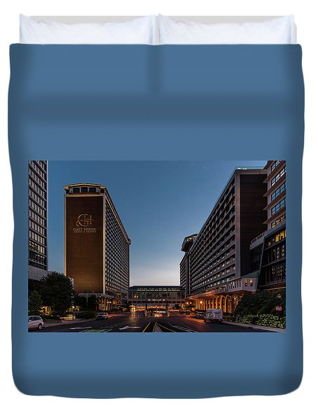 Duvet Cover featuring the photograph Galt House Hotel And Suites by Randy Scherkenbach