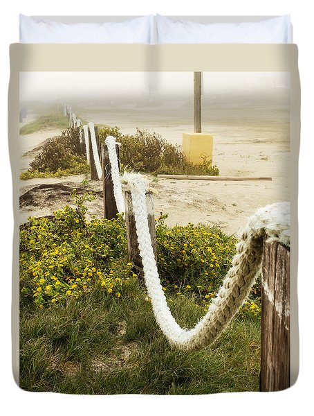 Galveston Beach 3 Duvet Cover