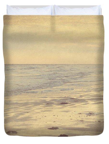 Galveston Island Sunset Seascape Photo Duvet Cover by Svetlana Novikova