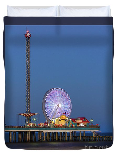Galveston Pier  Duvet Cover