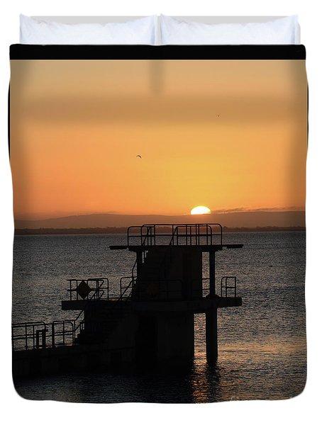 Galway Bay Sunrise Duvet Cover