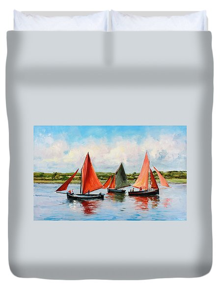 Galway Hookers Duvet Cover by Conor McGuire