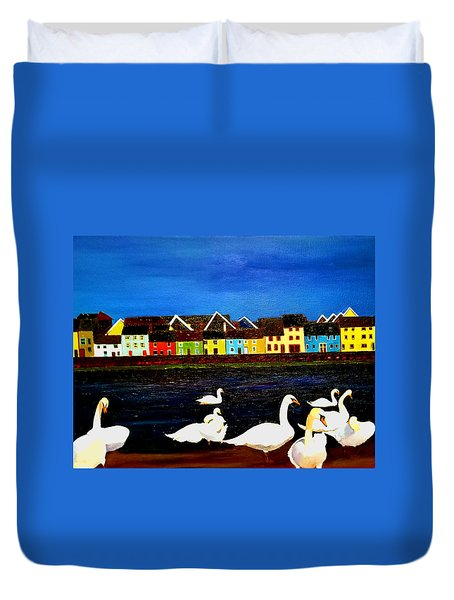 Galway Swans Duvet Cover