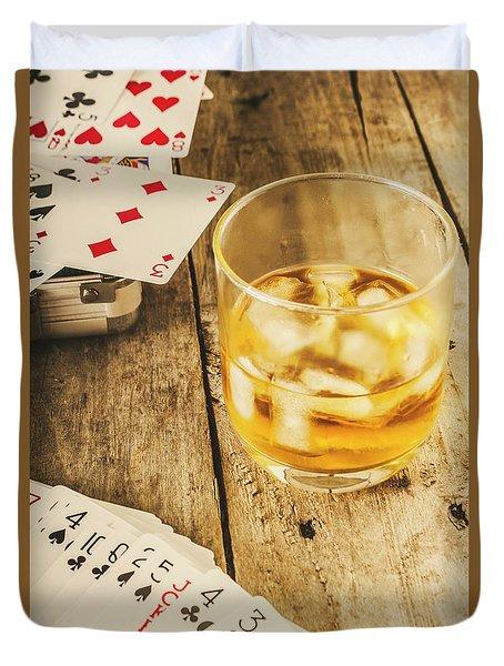 Gamblers Still Life Duvet Cover