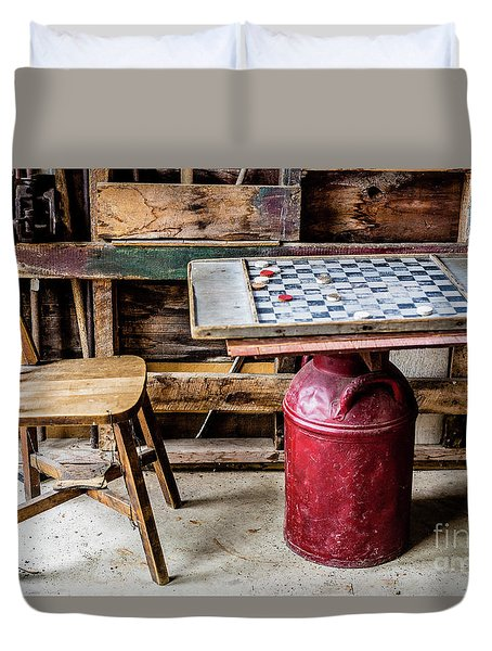 Game Of Checkers Duvet Cover by M G Whittingham