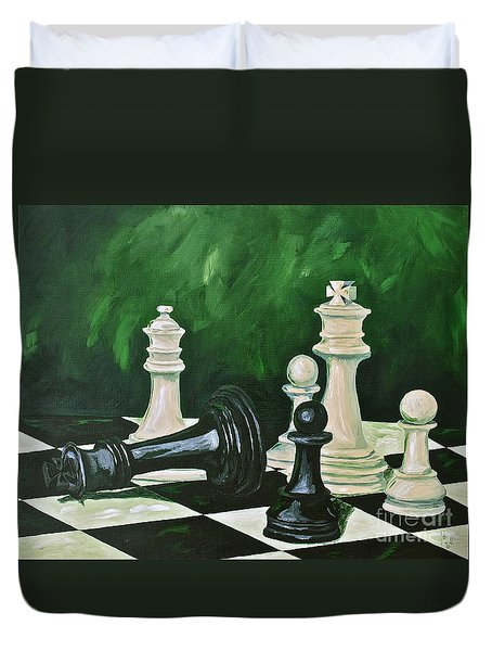 Game Over Duvet Cover by Herschel Fall