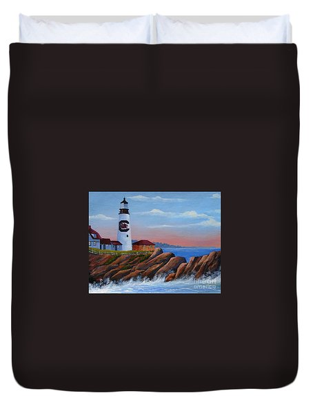 Gamecock Lighthouse Duvet Cover