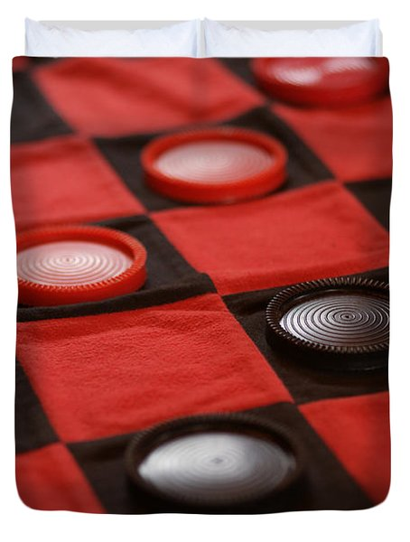 Games Duvet Cover by Linda Shafer