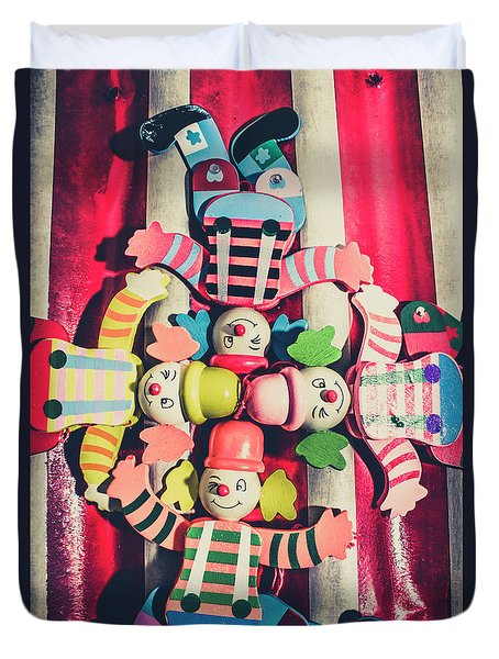 Games Room Of Wooden Circus Play Duvet Cover