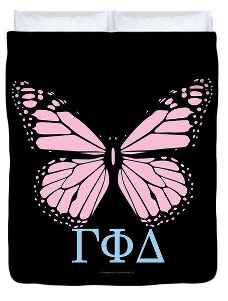 Gamma Phi Delta Classy Butterfly  Duvet Cover