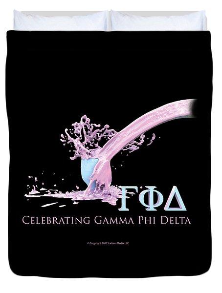 Gamma Phi Delta Splash Duvet Cover