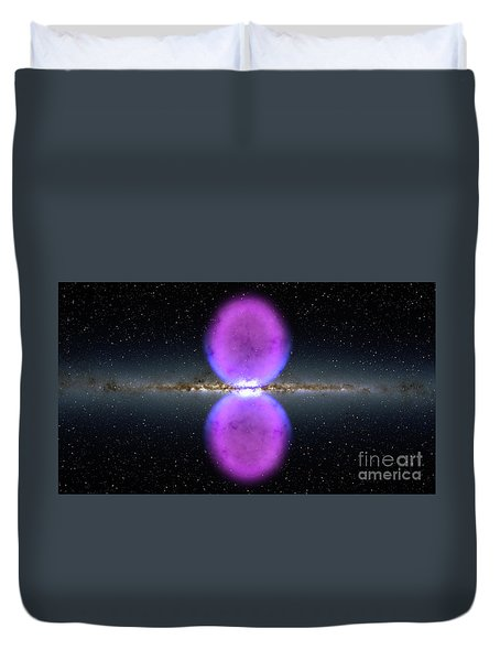 Gamma Ray Bubbles Duvet Cover