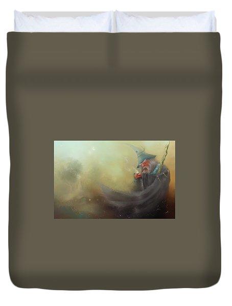 Gandalf Pipe Weed Duvet Cover by Joe Gilronan