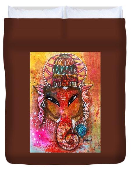 Ganesha Duvet Cover by Prerna Poojara
