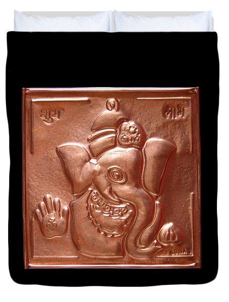 Ganesha Duvet Cover by Suhas Tavkar