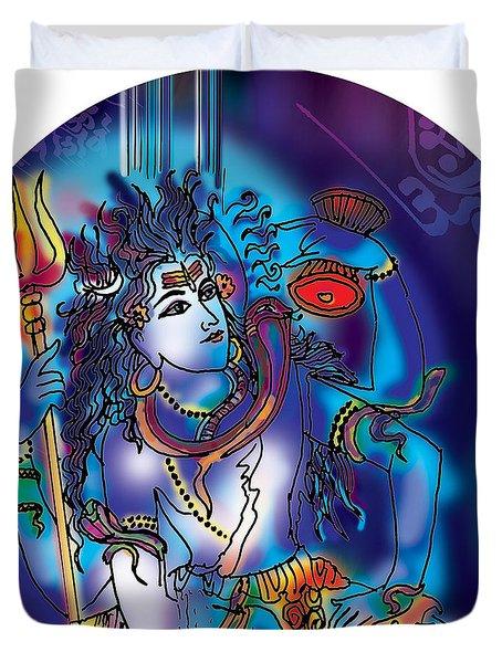 Gangeshvar Shiva Duvet Cover