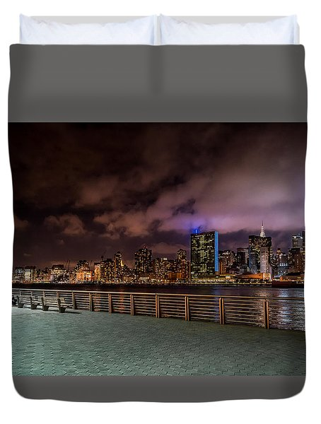 Duvet Cover featuring the photograph Gantry Park by Rafael Quirindongo