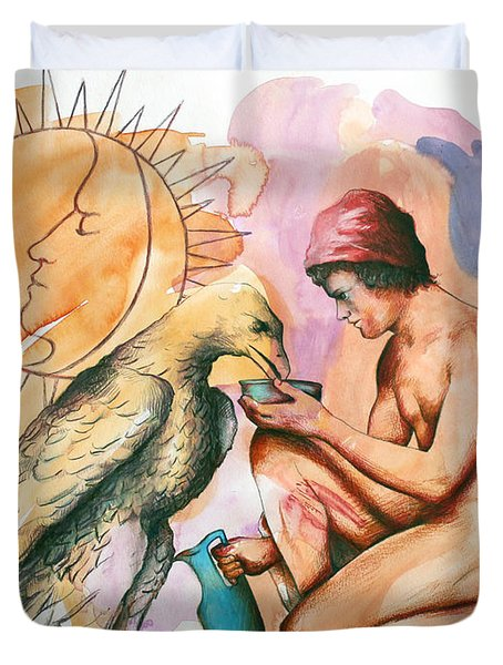 Ganymede And Zeus Duvet Cover