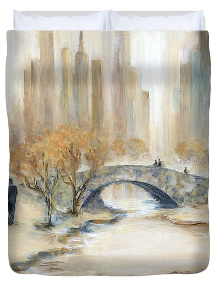 Gapstow Bridge And Lovers Duvet Cover