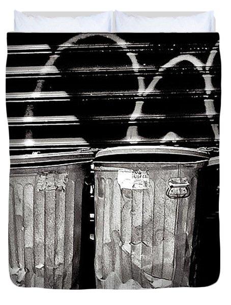 Garbage Duvet Cover by Madeline Ellis