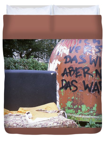 Garbage Message Duvet Cover