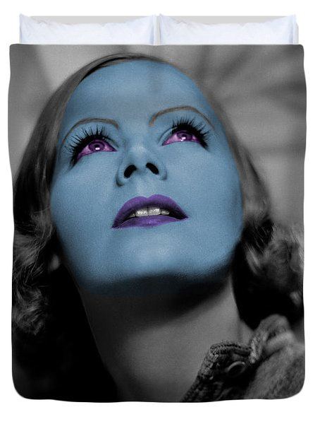 Garbo In Blue Duvet Cover