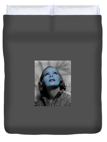 Garbo In Blue Duvet Cover