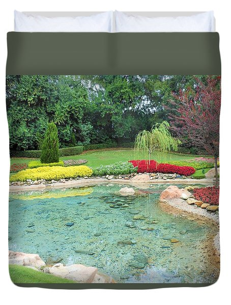 Garden At Epcot Duvet Cover by Kay Gilley