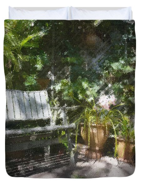 Garden Bench Duvet Cover by Sheila Smart Fine Art Photography