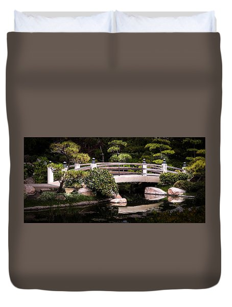 Garden Bridge Duvet Cover