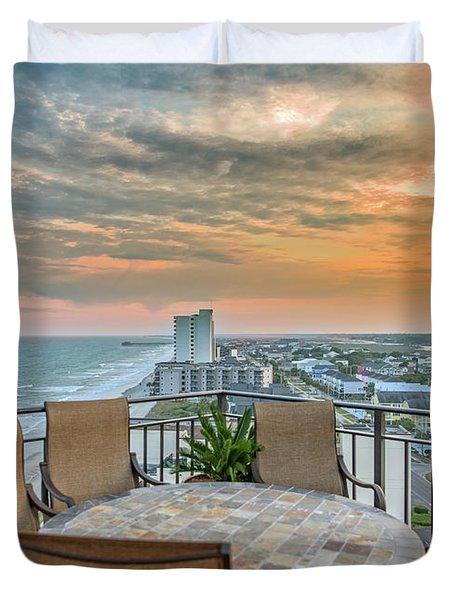 Garden City Beach View Duvet Cover