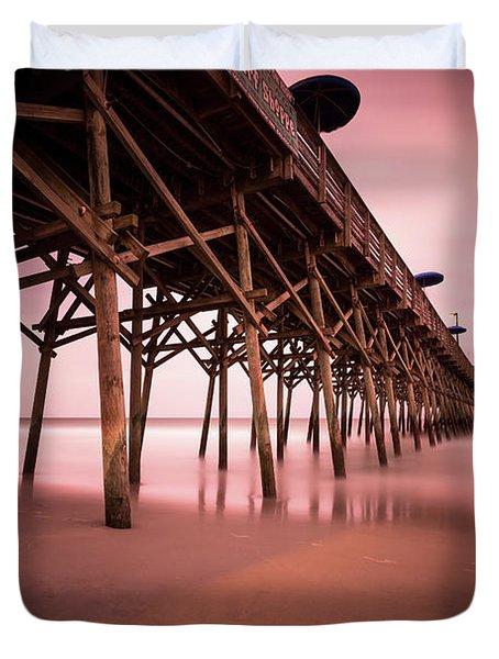 Garden City Pier June Sunset Duvet Cover