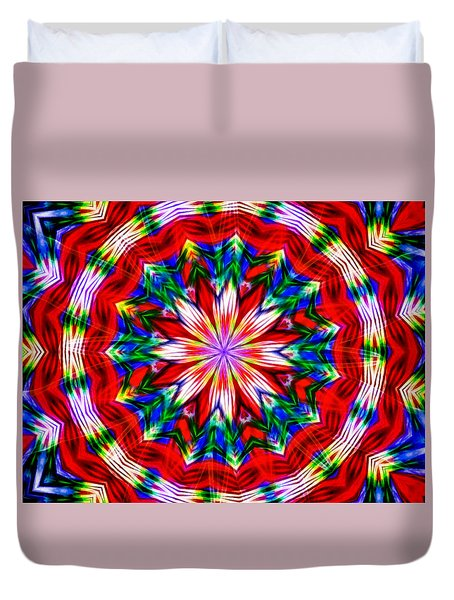 Duvet Cover featuring the digital art Garden Colors by Mario Carini