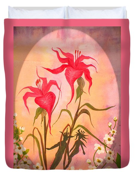 Garden Couple Duvet Cover by Adria Trail