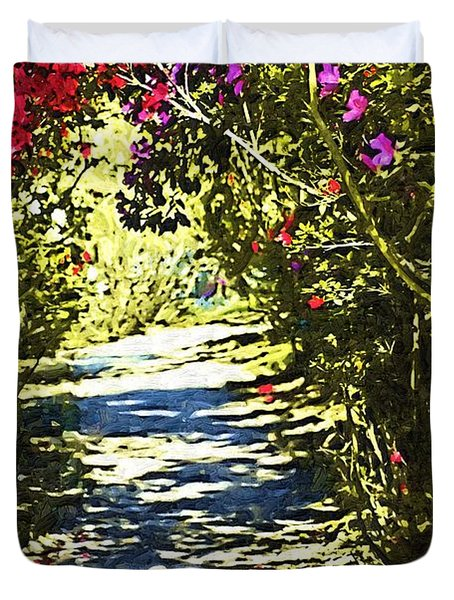 Duvet Cover featuring the photograph Garden by Donna Bentley