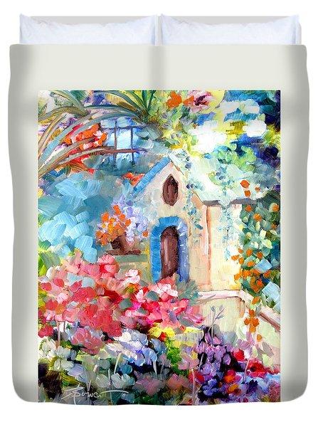 Garden Door  Duvet Cover
