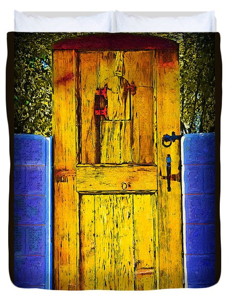 Garden Door Duvet Cover by Kirt Tisdale