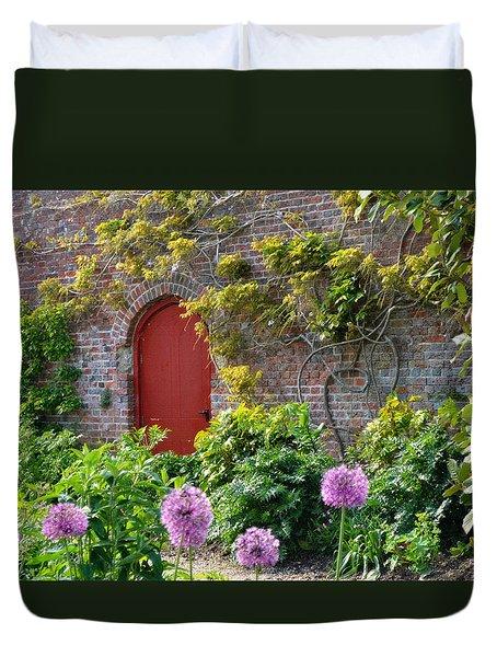 Garden Door - Paint With Canvas Texture Duvet Cover