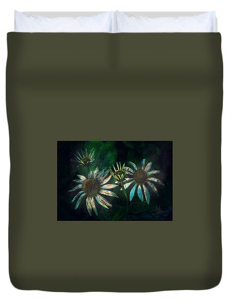 Duvet Cover featuring the photograph Garden Flowers 1 June 14 2015 by Jim Vance